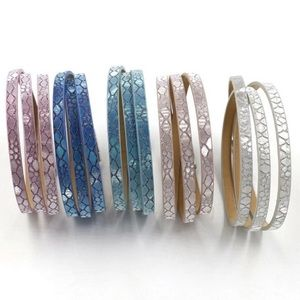 Jewelry - Shimmery Scaled Layer Wrapped Bracelets NWT